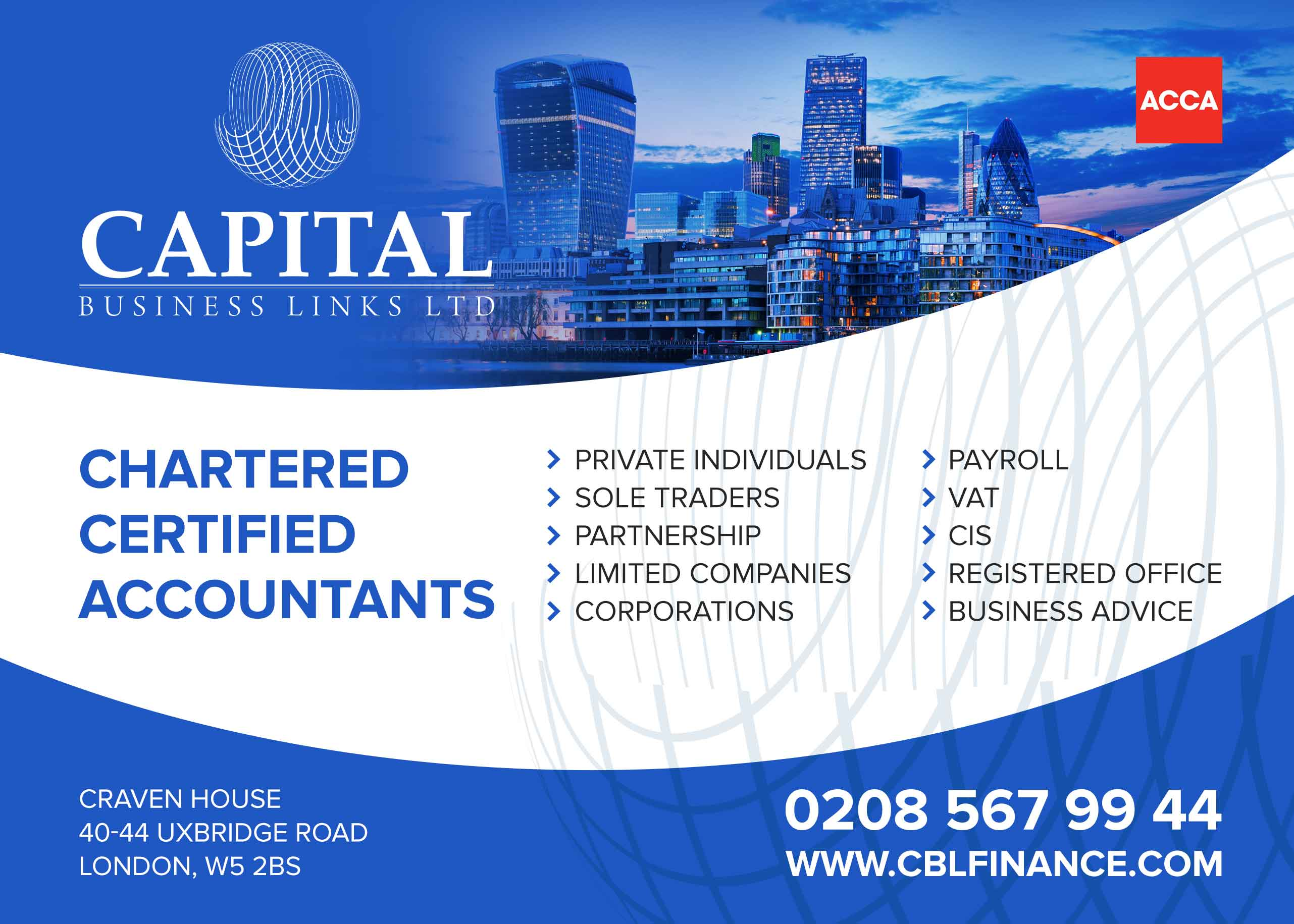 Chartered Certified Accountant Ealing West London